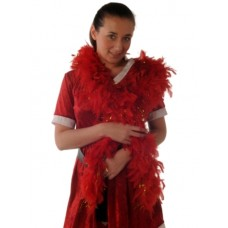 Boas Feather Red Gold Tinsel 1.8m