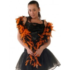 Boas Feather Black & Orange 1.8m
