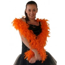 Boas Feather Orange 1.8m