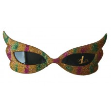 Party Glasses Butterfly Glitter Multi Co