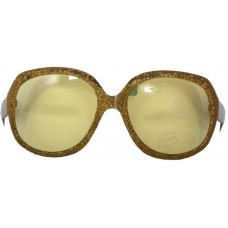 Party Glasses Large Gold cw Yellow Lens
