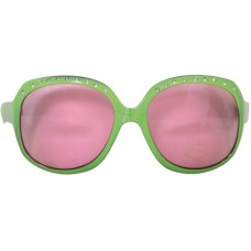 Party Glasses Large Green with Pink Lens