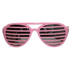 Party Glasses Lamella Stripes Pink