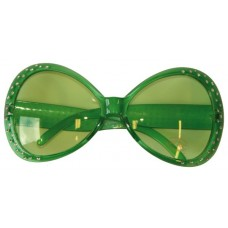 Party Glasses Diamond Frame Green