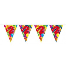 Bunting Balloon for 2nd Birthday