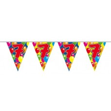 Bunting Balloon for 7th Birthday