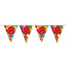 Balloon Design Bunting No 8th Birthday