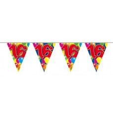 Balloon Design Bunting No 16th Birthday