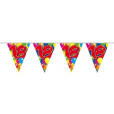 Balloon Design Bunting No 18th Birthday