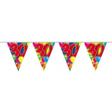 Balloon Design Bunting No 30th  Birthday