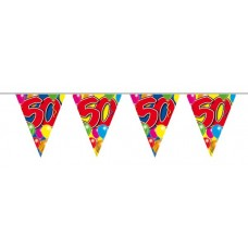 Balloon Design Bunting No 50th  Birthday