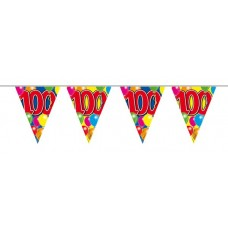 Balloon Design Bunting No 100th Birthday