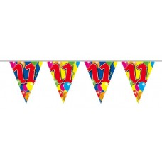 Balloon Design Bunting No 11th Birthday