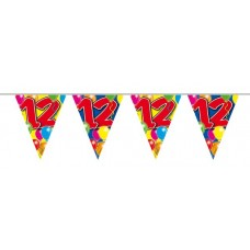 Balloon Design Bunting No 12th Birthday