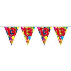 Balloon Design Bunting No 13th Birthday