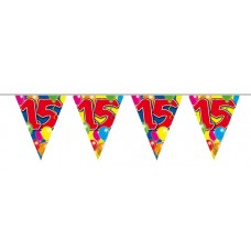 Balloon Design Bunting No 15th Birthday