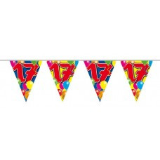 Balloon Design Bunting No 17th Birthday