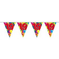 Balloon Design Bunting No 19th Birthday