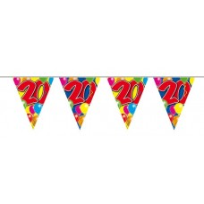 Balloon Design Bunting No 20th Birthday