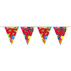Bunting Balloon for 55th Birthday