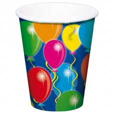 Balloon Design Cups Card 250ml 8's