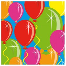 Balloon Design Napkins Paper 25 x 25cm