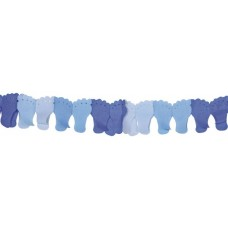 Baby Boy Blue Paper Garland Feet 6m