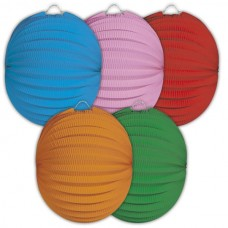 Party Lantern Round Assorted 22cm