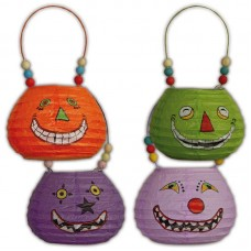 Party Lantern Basket shaped Faces Asstd