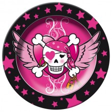 Pirate Girl Birthday Plates 23cm 8 packe