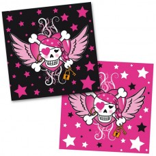 Pirate Girl Birthday Napkins 33 x 33cm 2