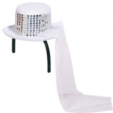 Hat Wedding White Mini & Tiara Band