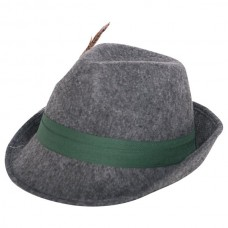 Hat Trilby Tyrolean Wool with Feather