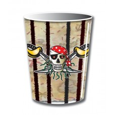 Pirate Red Birthday Cups 250ml 8 packet