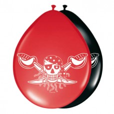 Pirate Red Birthday Balloons 8's