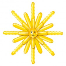 Balloon Kit Sun Yellow Design 120cm