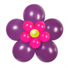 Balloon Kit Flower Pack Purple Pink