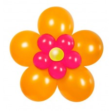 Balloon Kit Flower Pack Orange Pink