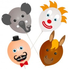 Balloon Heads Circus set of 4