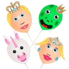 Balloon Heads Prince Princess set of 4