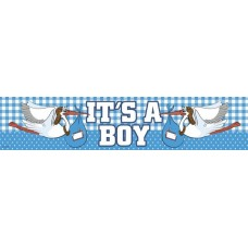 Banner Foil New Arrival Its a Boy 2.6m