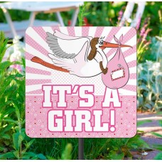 Garden Sign New Arrival It's a Girl