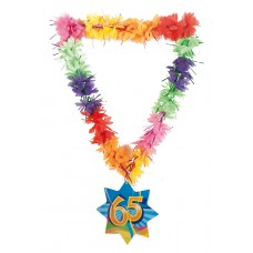 Hawaii Lei Tinsel Happy 65th