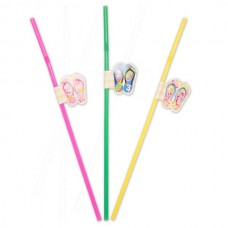 Straws with Flip Flops 24cm 8's