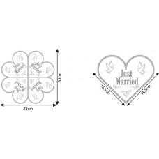 Napkins Wedding Heart Shape Just Married