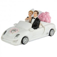 Wedding Figure Bride & Groom in a Car