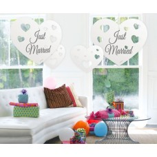 Decoration Hanging Just Married Hearts