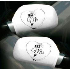 Car Mirror covers for Car Just Married