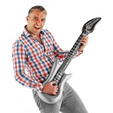 Inflatable Music Guitar Silver