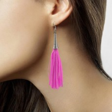 Earrings Neon Pink